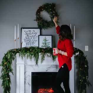 Beautiful Holiday Fireplace Styling By Krista Fredricks of Pike Petals