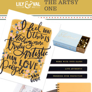 Lily & Val Gift Guide: The Artsy One