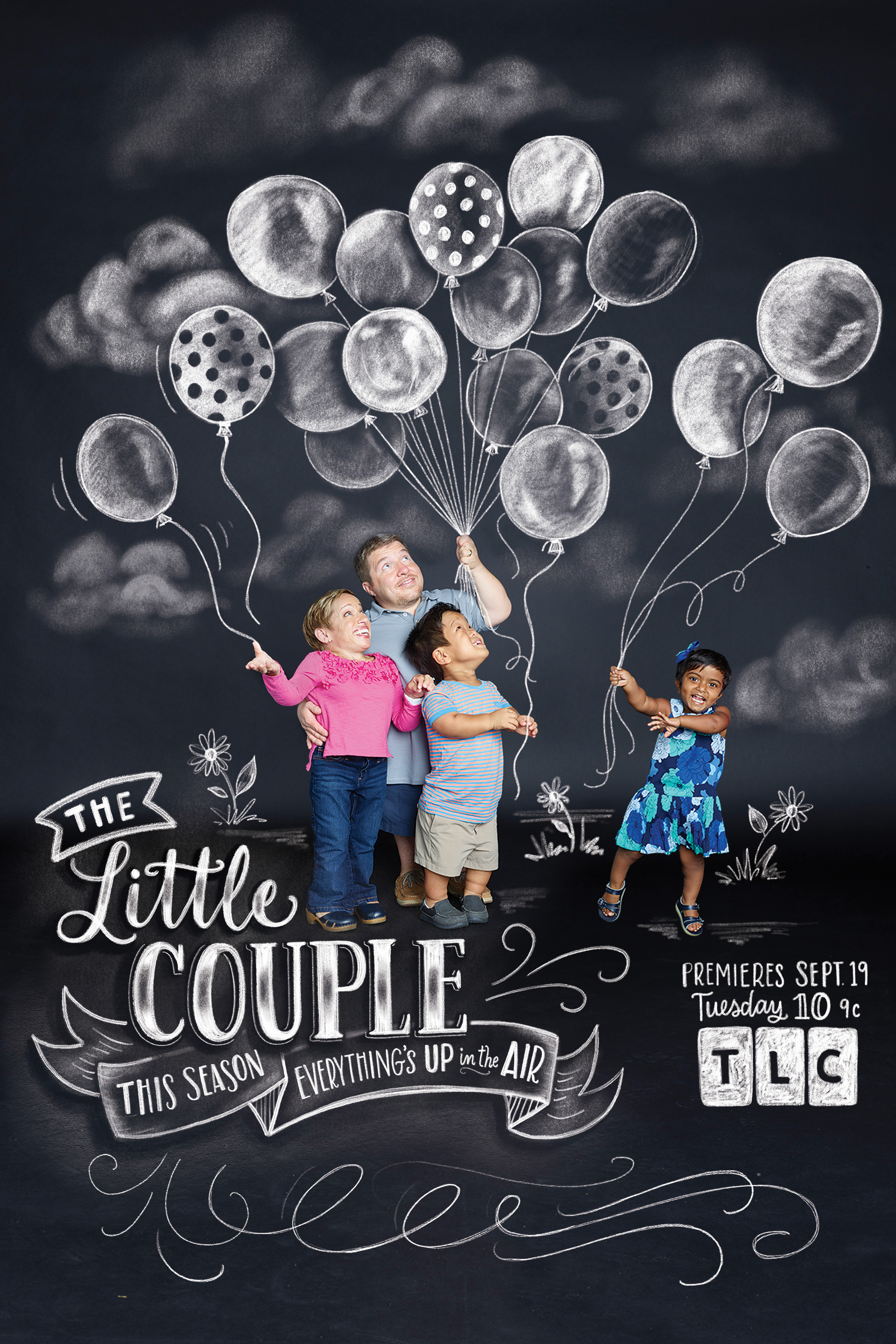 Lily & Val chalk art for the Little Couple on TLC