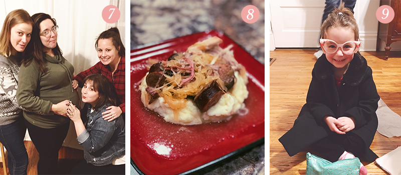 Lily & Val Presents: Pretty Ordinary Friday #82 with awkward family photos with your besties, pork and sauerkraut and fashionista preschoolers