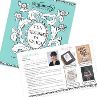 Valerie McKeehan Named Top 10 Designers To Watch by Stationery Trends Magazine