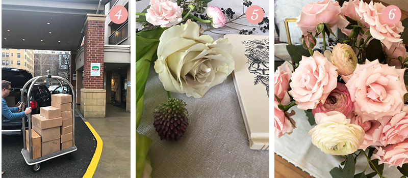 Lily & Val Presents: Pretty Ordinary Friday #89 with card sleeving parties, gorgeous white roses and spring floral bouquets