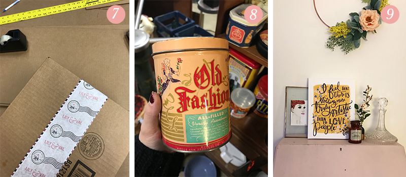 Lily & Val Presents: Pretty Ordinary Friday #86 with new L&V packing tape, vintage tins and pink writing desks