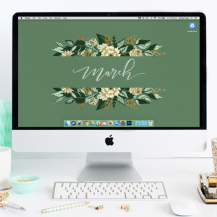 March's Green Floral FREE Desktop Wallpaper Download