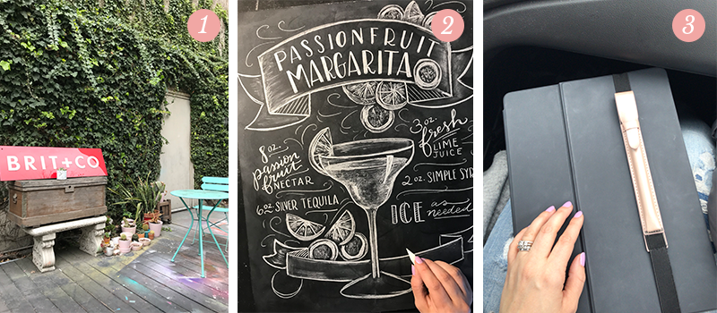 Lily & Val Presents: Pretty Ordinary Friday #90 with Brit + Co online classes, Passionfruit Margarita chalk art recipe and iPad Pro pencil case