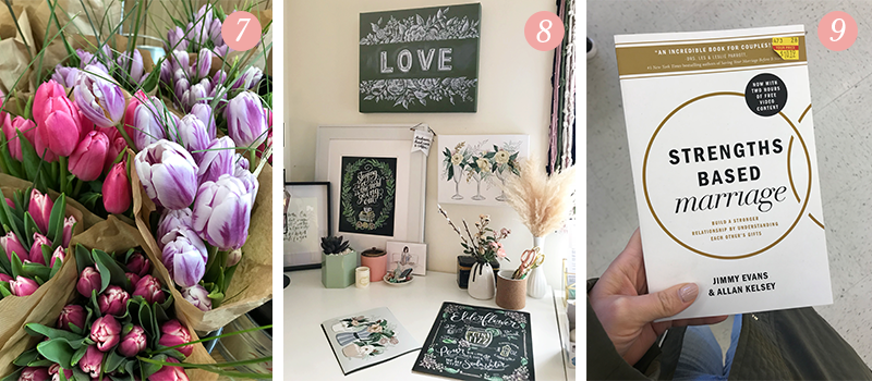 Lily & Val Presents: Pretty Ordinary Friday #91 with Spring at Trader Joe's, new spring artwork for the studio and Strengths Based Marriage
