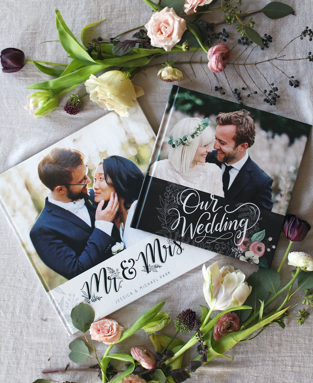 Lily & Val Designed Custom Wedding Photo Books are offered Through Mixbook