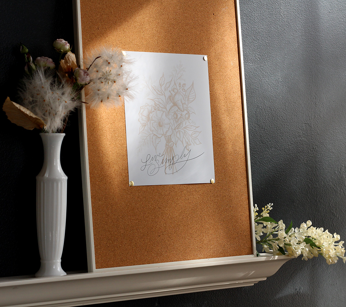 Live SImply Botanical Wall Art By Lily & Val