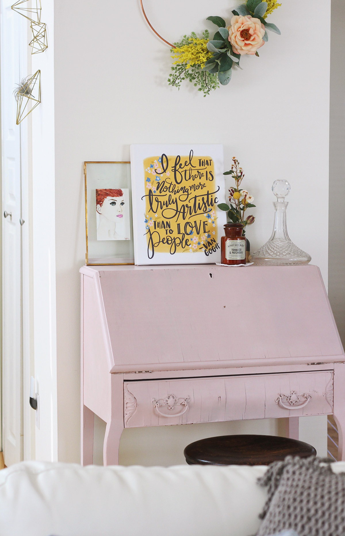 My Antique Letter Writing Desk & Tips For Setting Up Your Own Letter Writing Station
