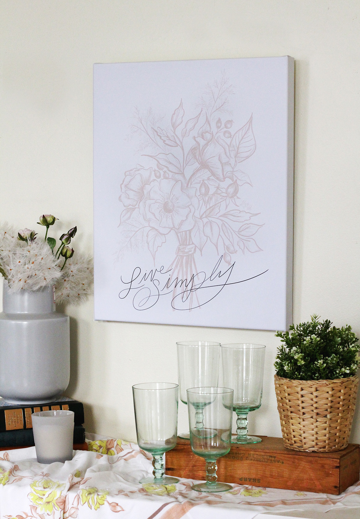 Lily & Val Live Simply Canvas Wall Art