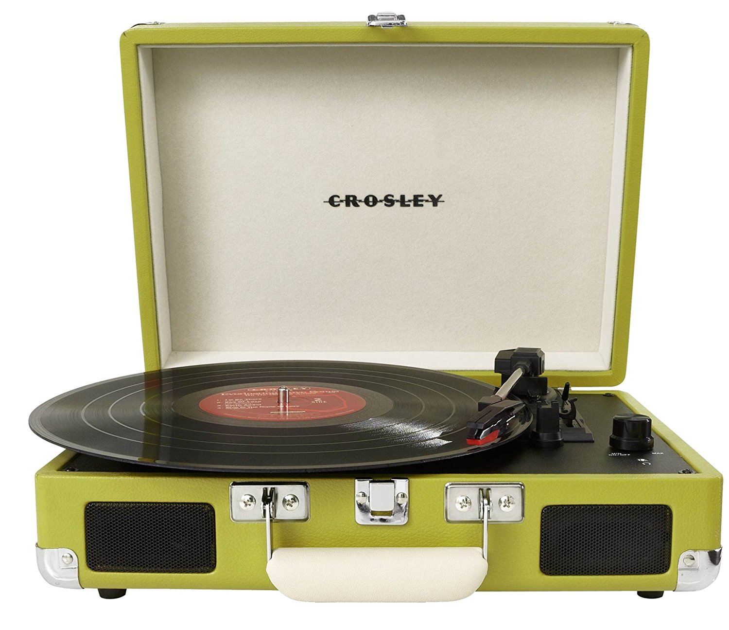 Chartreuse Portable Turntable