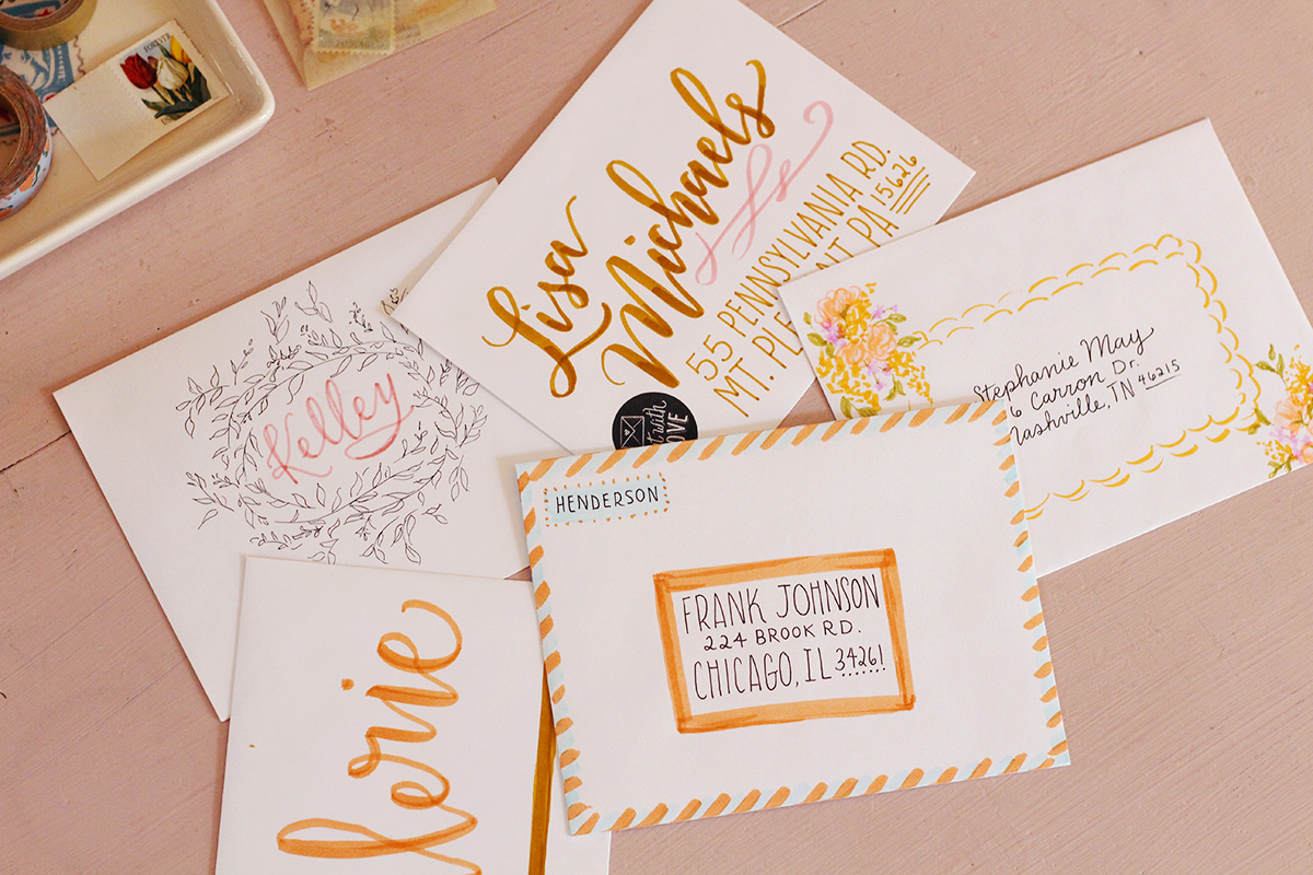 Envelope Addressing and Decorating Inspiration Using Tombow Dual Brush Pens Part 2