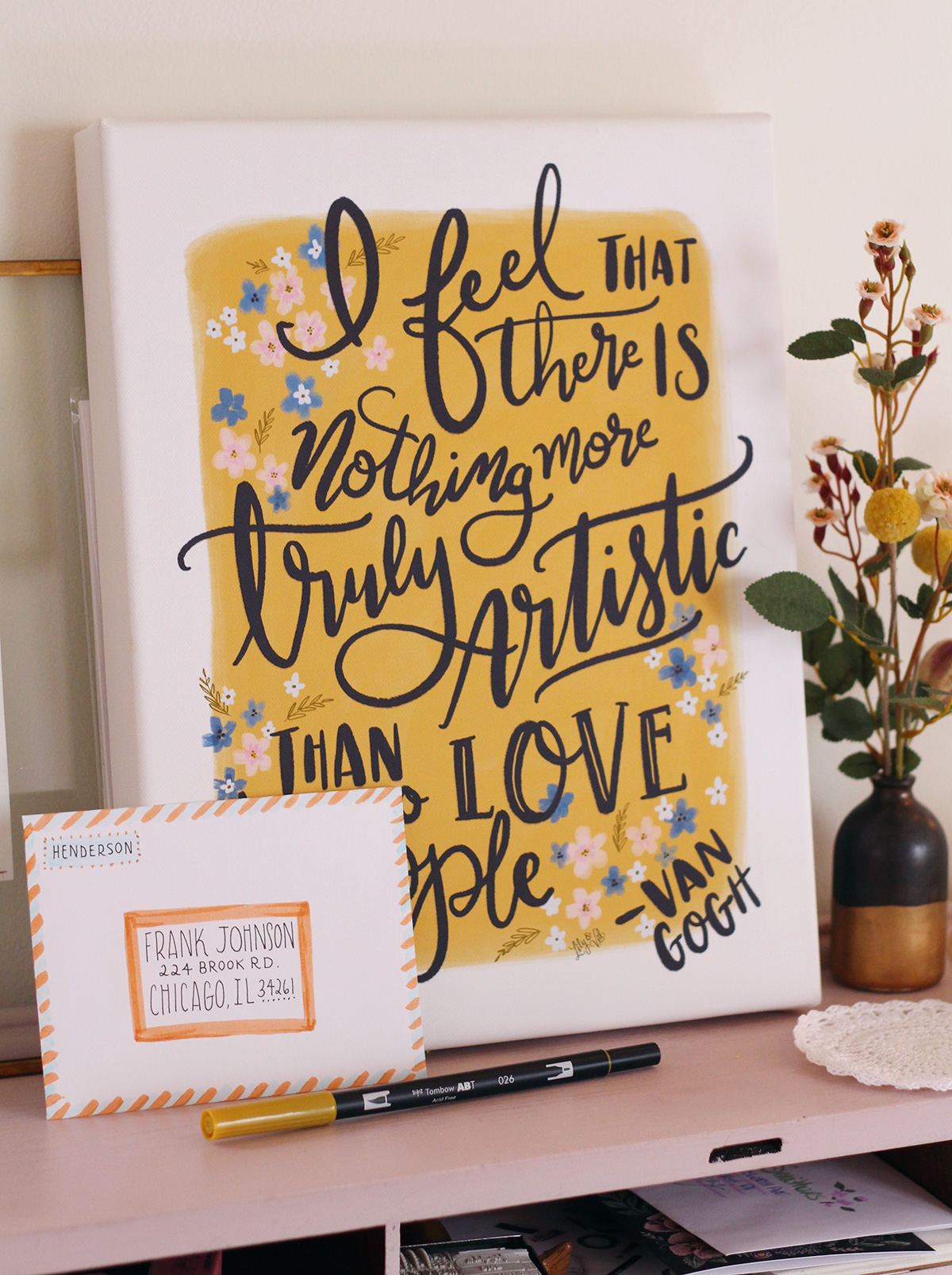 I feel that there is nothing more truly artistic than to love people. Lily & Val Canvas