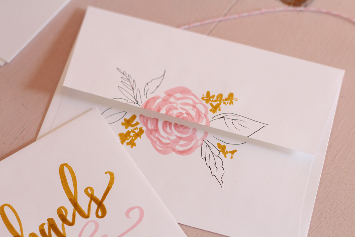 Envelope Addressing and Decorating Inspiration Using Tombow Dual Brush Pens & Mono Drawing Pen