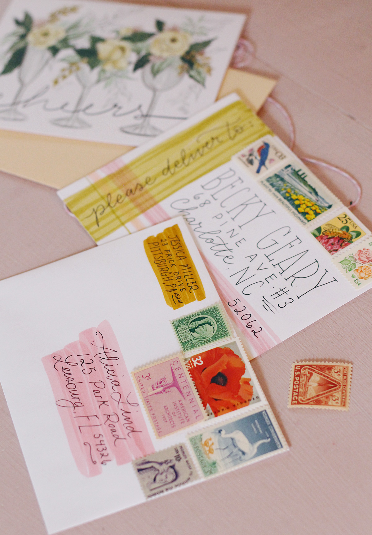 There is nothing quite like vintage stamps to elevate an envelope and really make someone smile when they receive your letter!