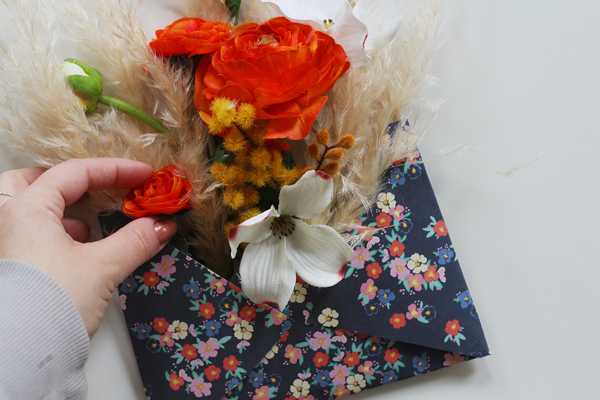 Floral Envelope DIY for a letter writing party!