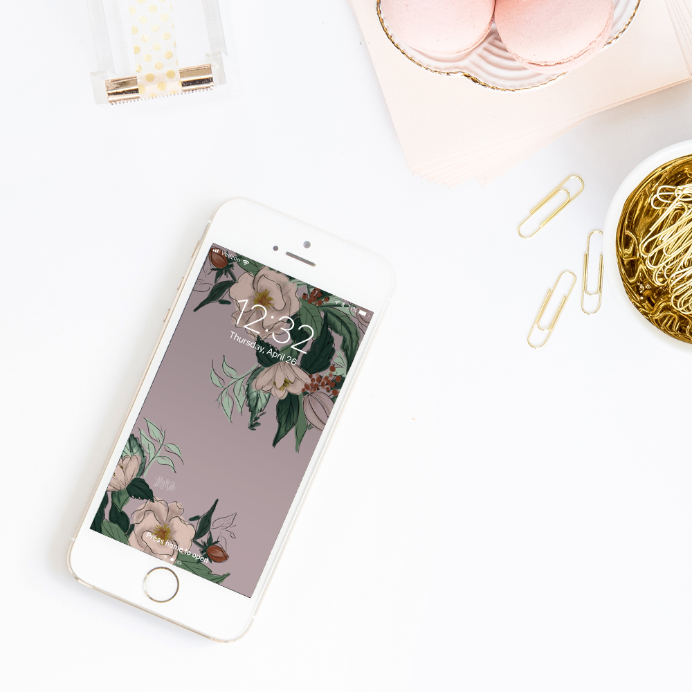 Lily & Val's Free May floral iPhone background download
