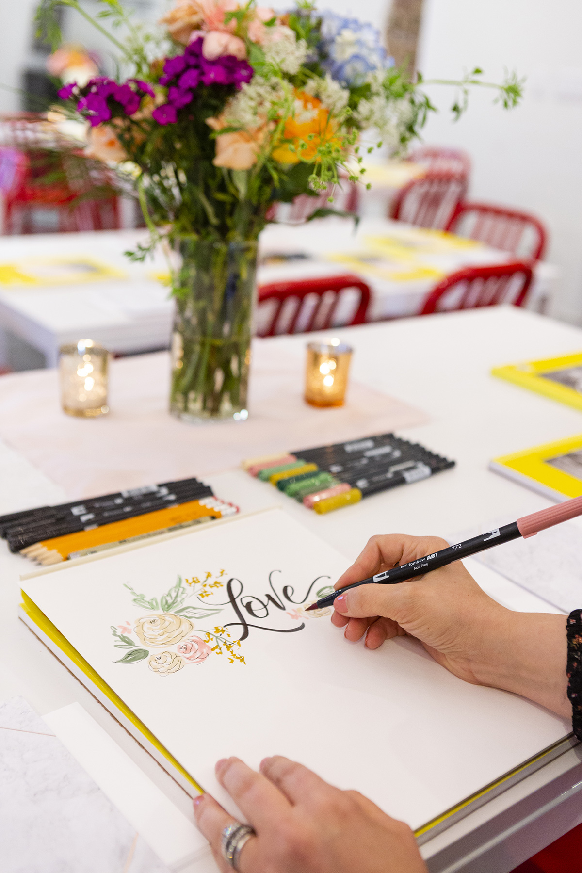 A Re-Cap of Valerie McKeehan's Brush Lettering Class With Brit + Co and Mixbook