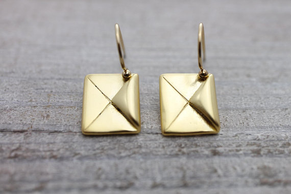 Cutest envelope earrings ever!