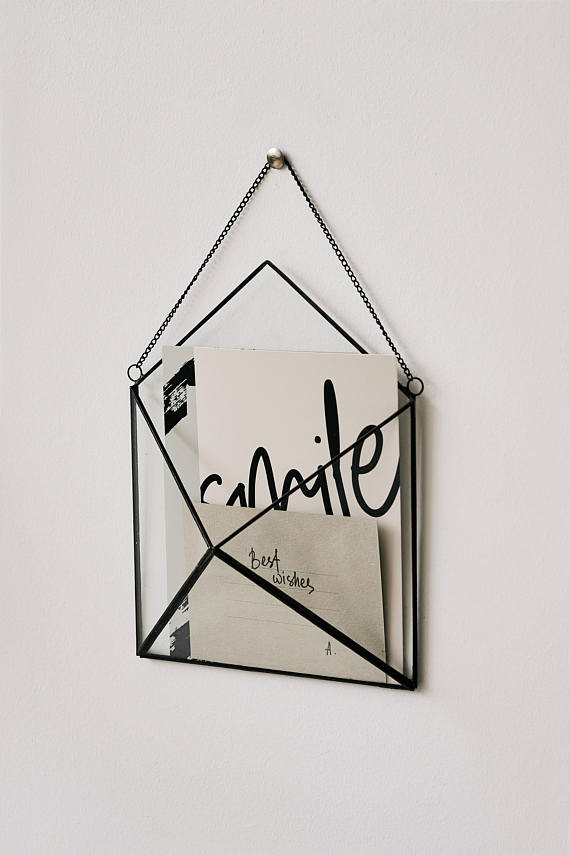 How beautiful is this Stained Glass, super sleek, envelope wall hanger!