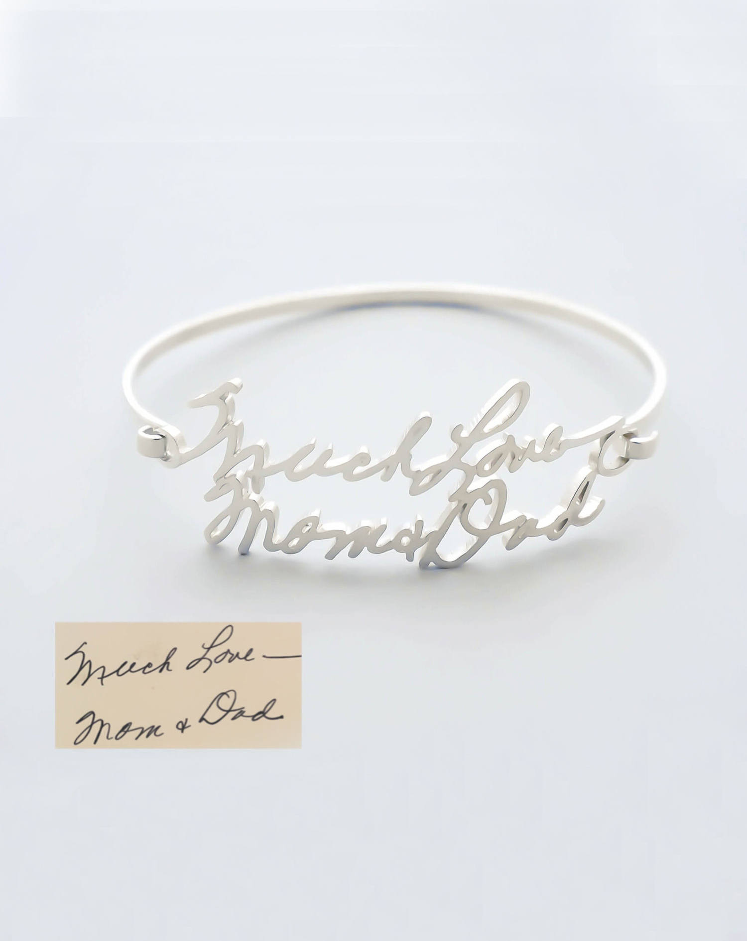 Custom Handwriting Bangle Bracelet is such a beautiful gift
