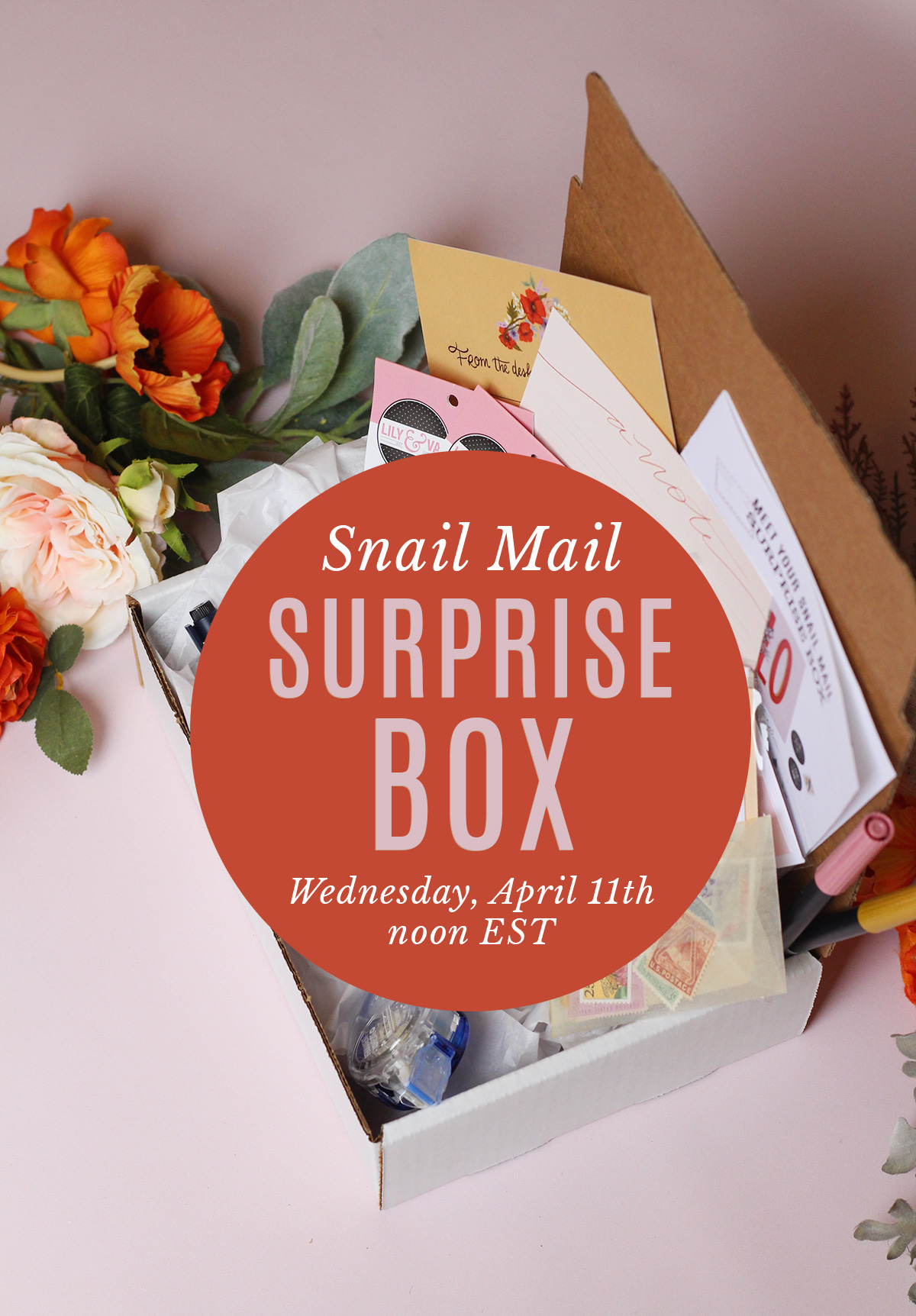 Lily & Val Snail Mail Surprise Box Launching on Wednesday, April 11th