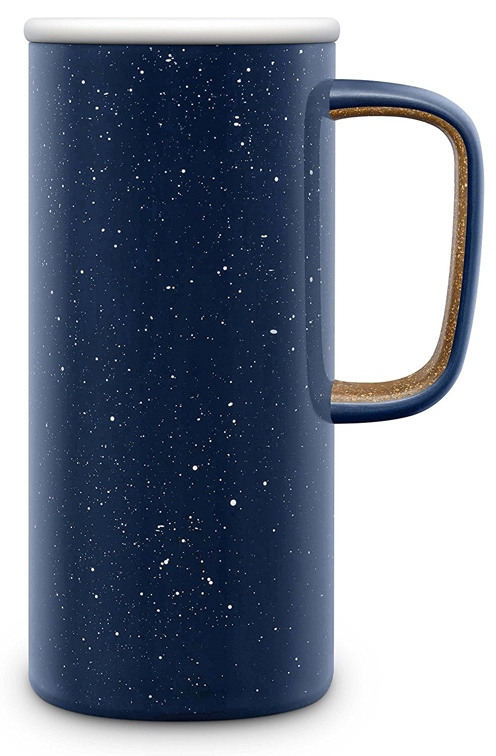 Keep That Morning Coffee or Tea Hot until you get around to drinking it with this adorable enamel insulated travel mug!