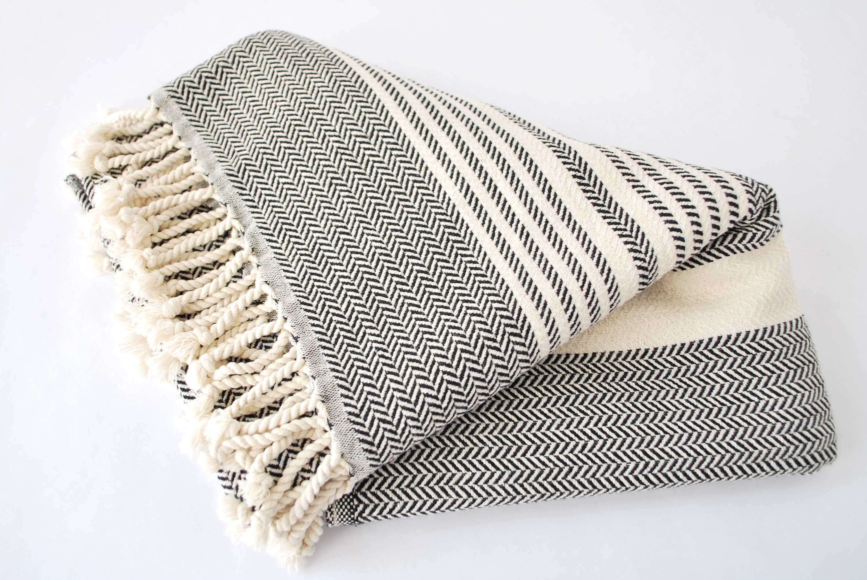 Beautiful neutral beach/picnic blanket