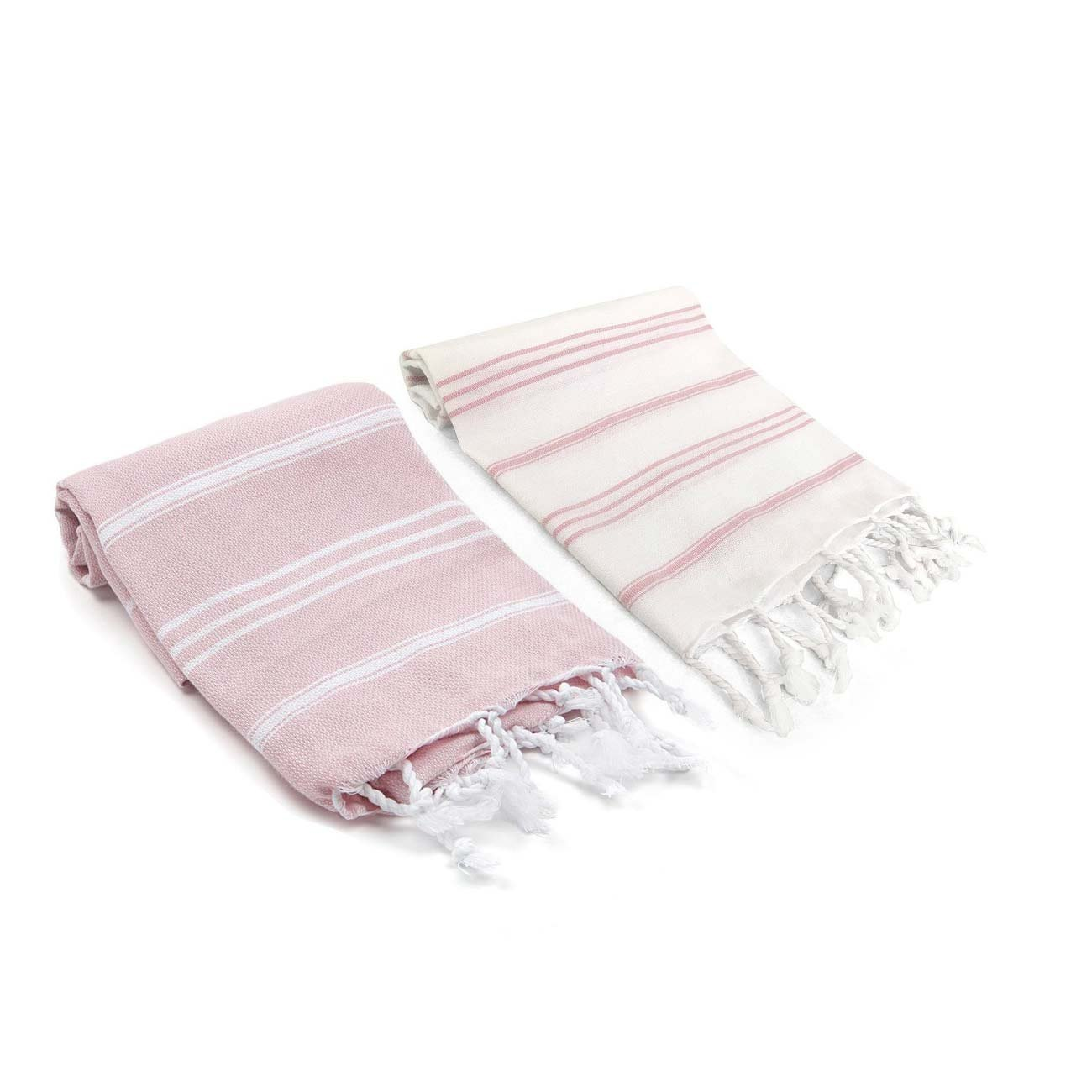 Blush Turkish Towel set for the beach with besties