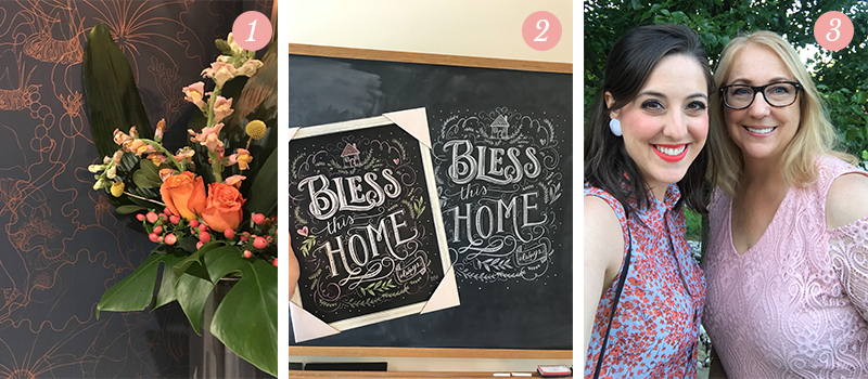 Lily & Val Presents: Pretty Ordinary Friday #94 with fresh florals, Bless This Home print and selfies with mom