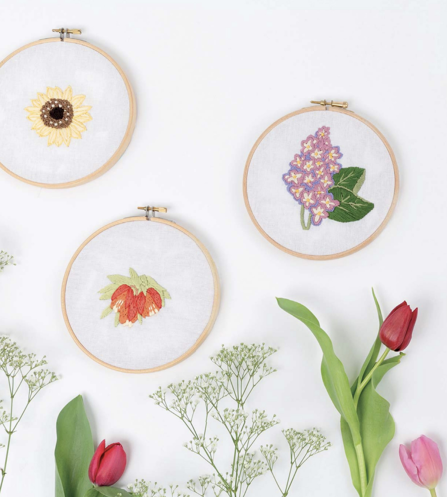 Learn How to Create Beautiful Modern Flower Embroidery