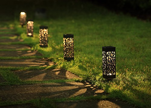 luminary style patio lights add a special touch to any walkway or patio space!