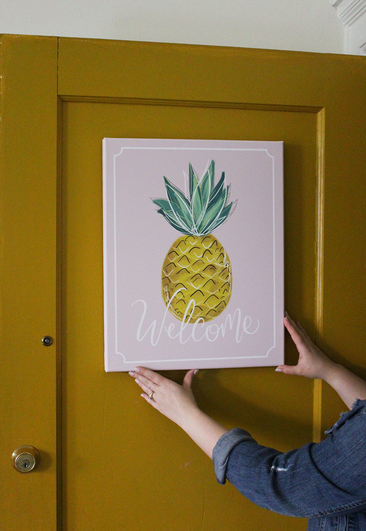 Welcome Summer with this bold hand-lettered collection of prints, canvas and pillows by Lily & Val
