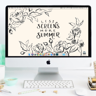 "August's ""Less Screens"" FREE Desktop Download"