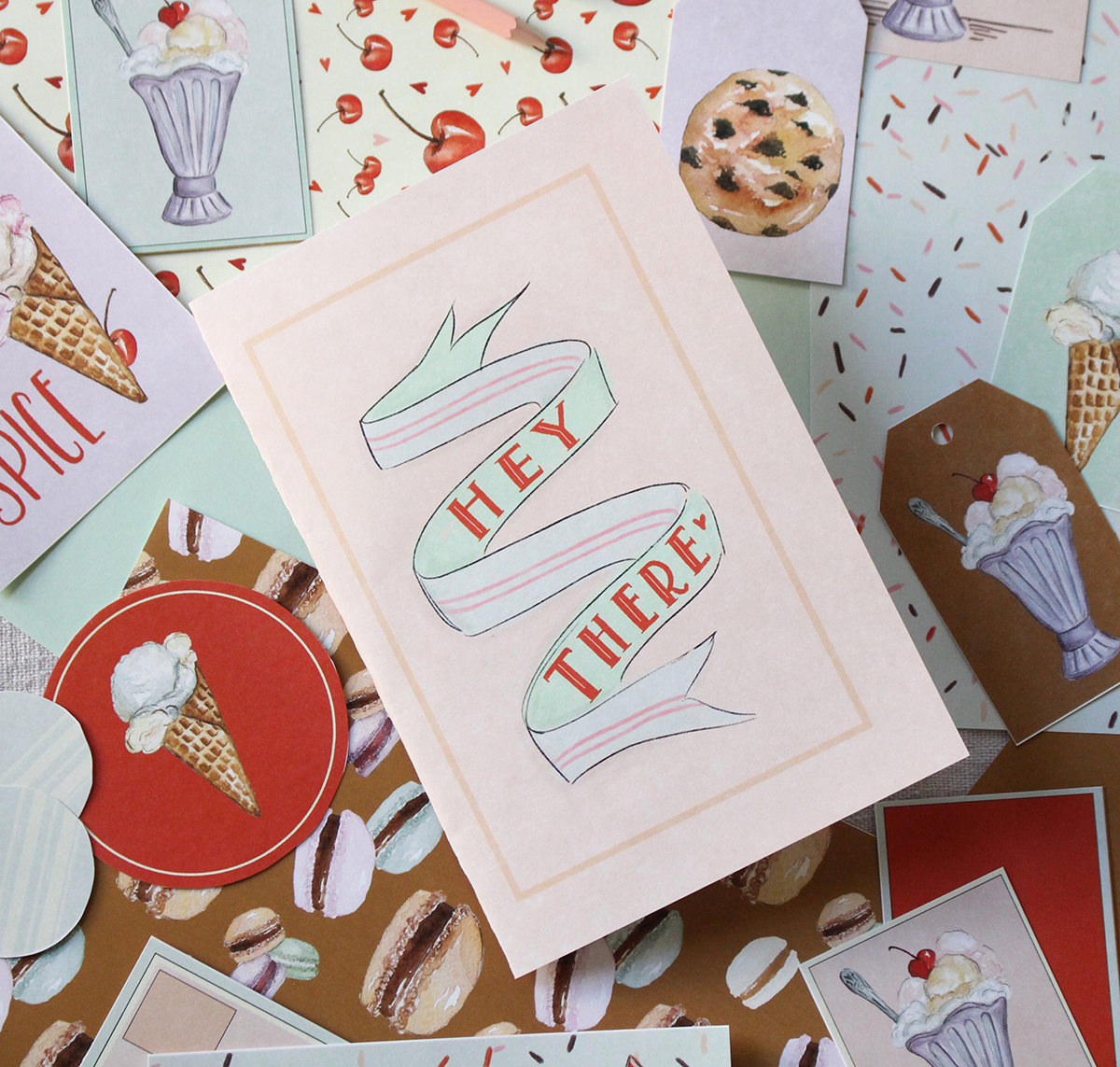 Life of The Party Paper Crafting by Lily & Val is filled with ready-to-use cards, tags, coasters, menus and more for throwing lovely parties