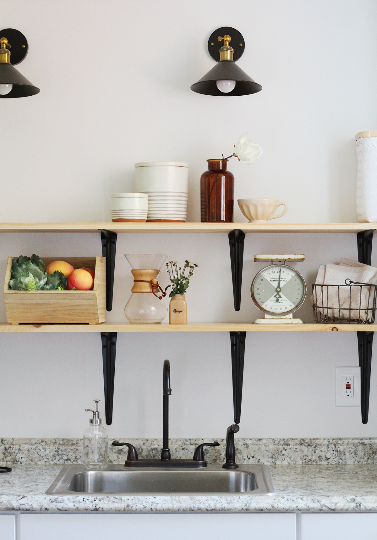 Beautiful Kitchen inspiration- How to Style Your Open Kitchen Shelving