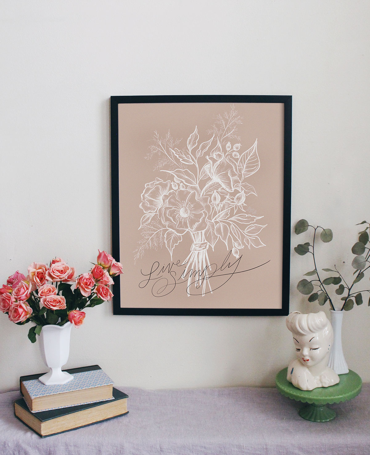 Live Simply Print & Canvas - Hand lettered Spring Art Decor