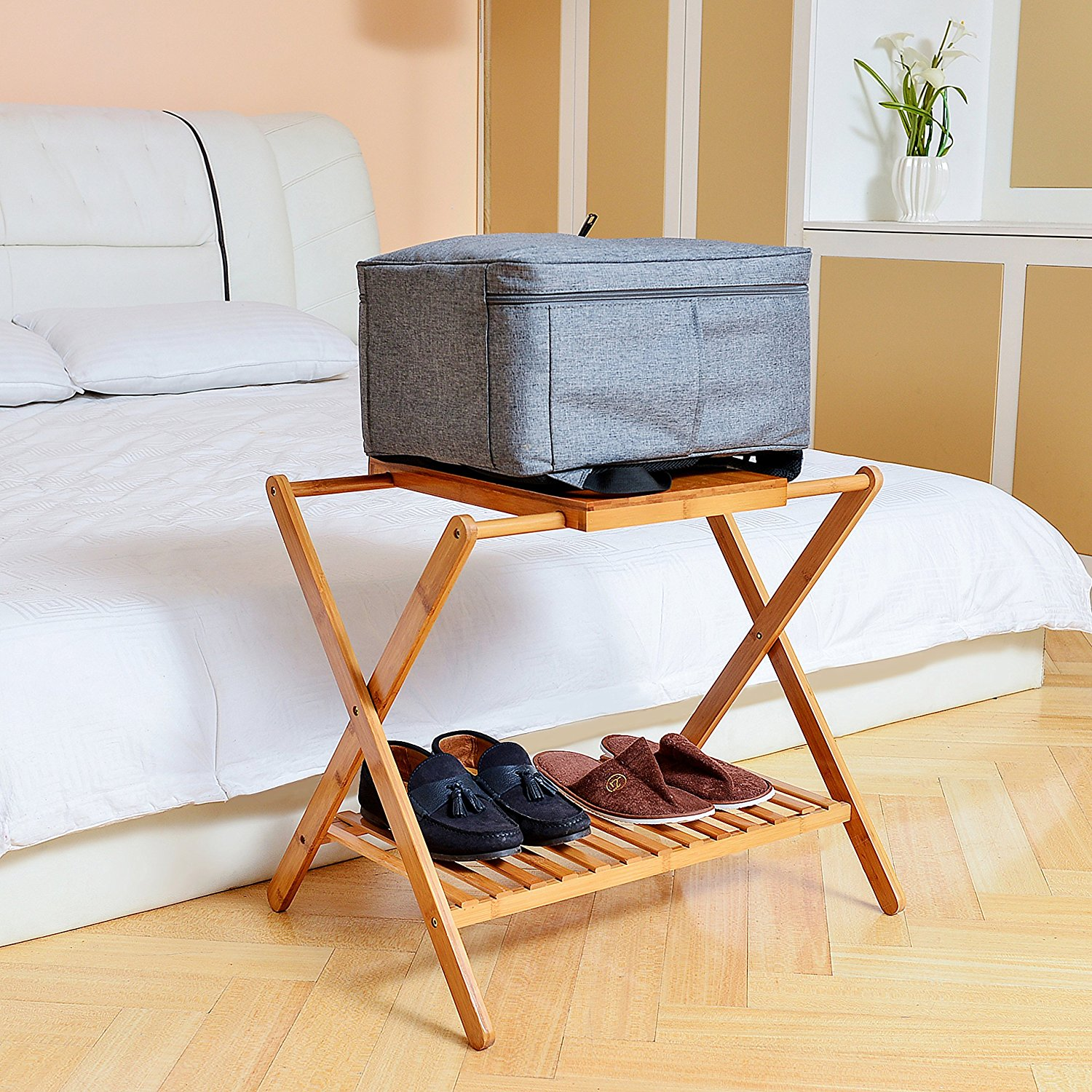 Make each guest feel at home with our favorite luggage rack