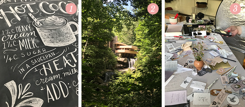 Lily & Val Presents: Pretty Ordinary Friday #96 with Holiday designs in summer, Fallingwater and photoshoot mess