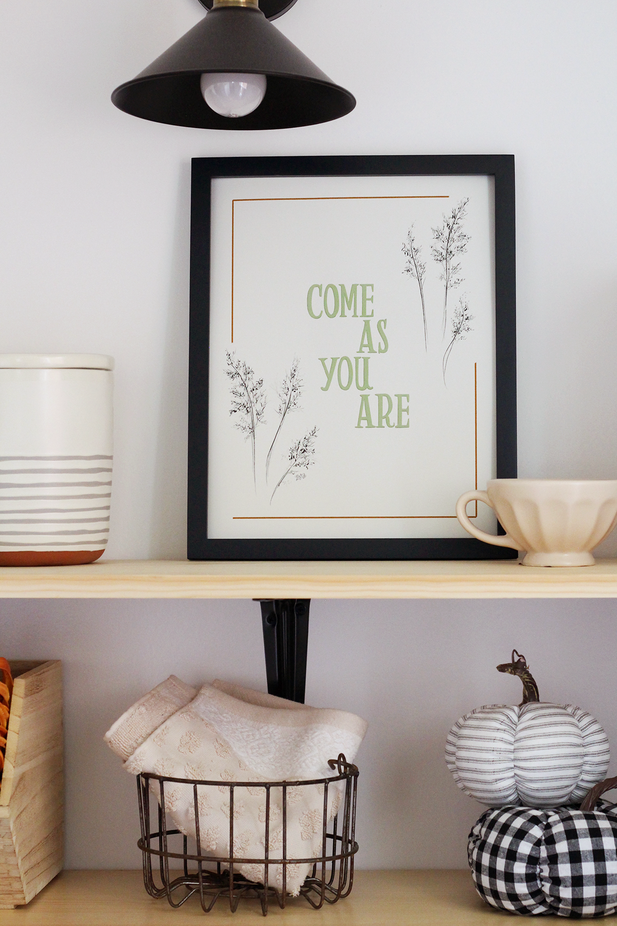 Come as your are. Fall home decor art print
