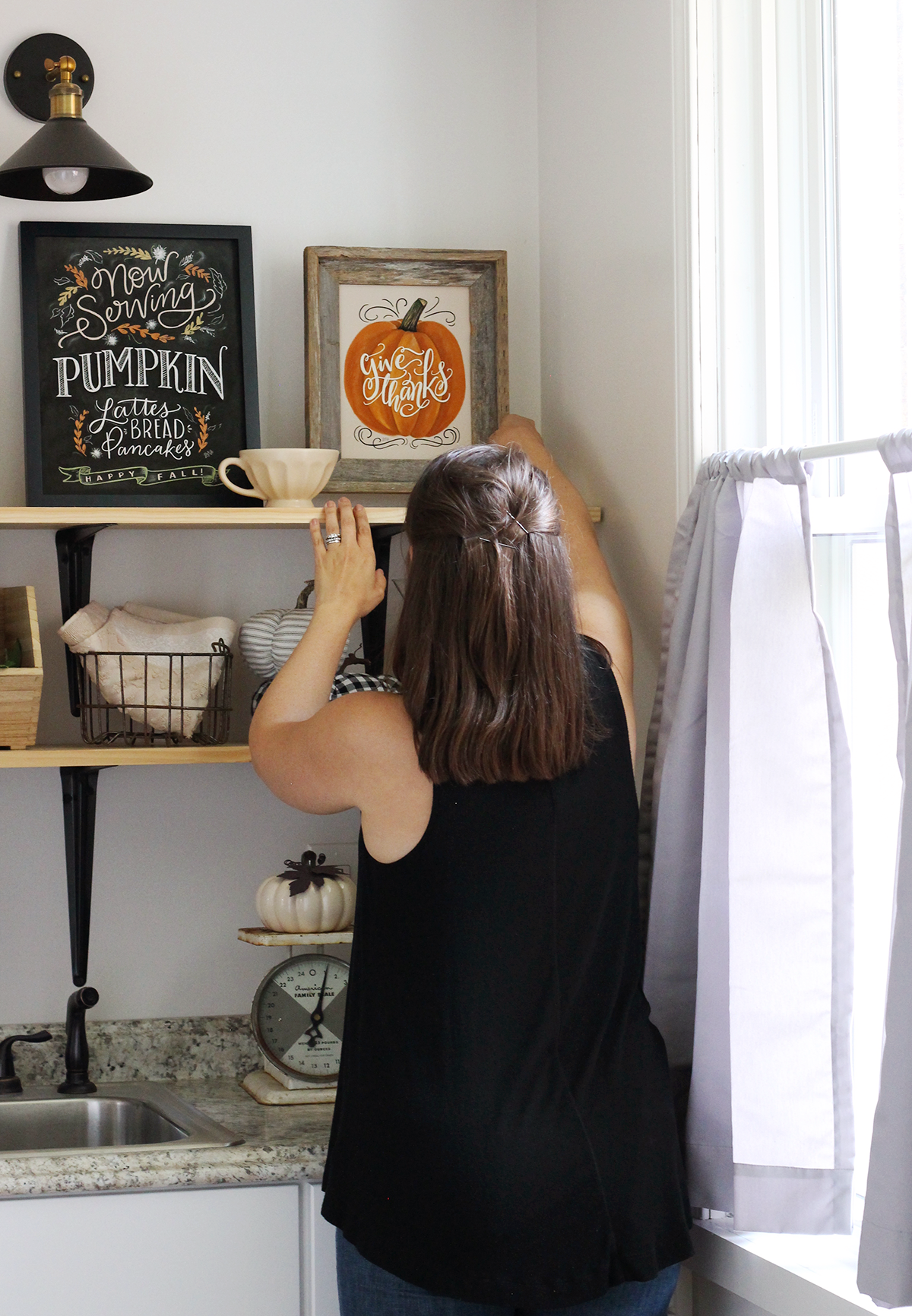 Fall Kitchen Decorating with Lily & Val Prints