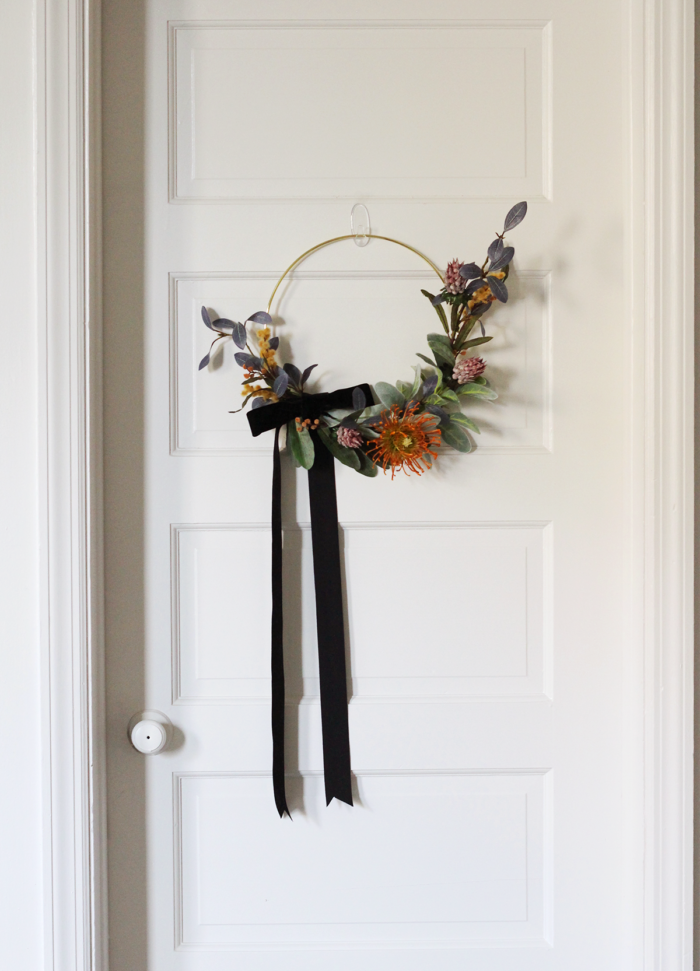 How to Make a Modern Fall Wreath