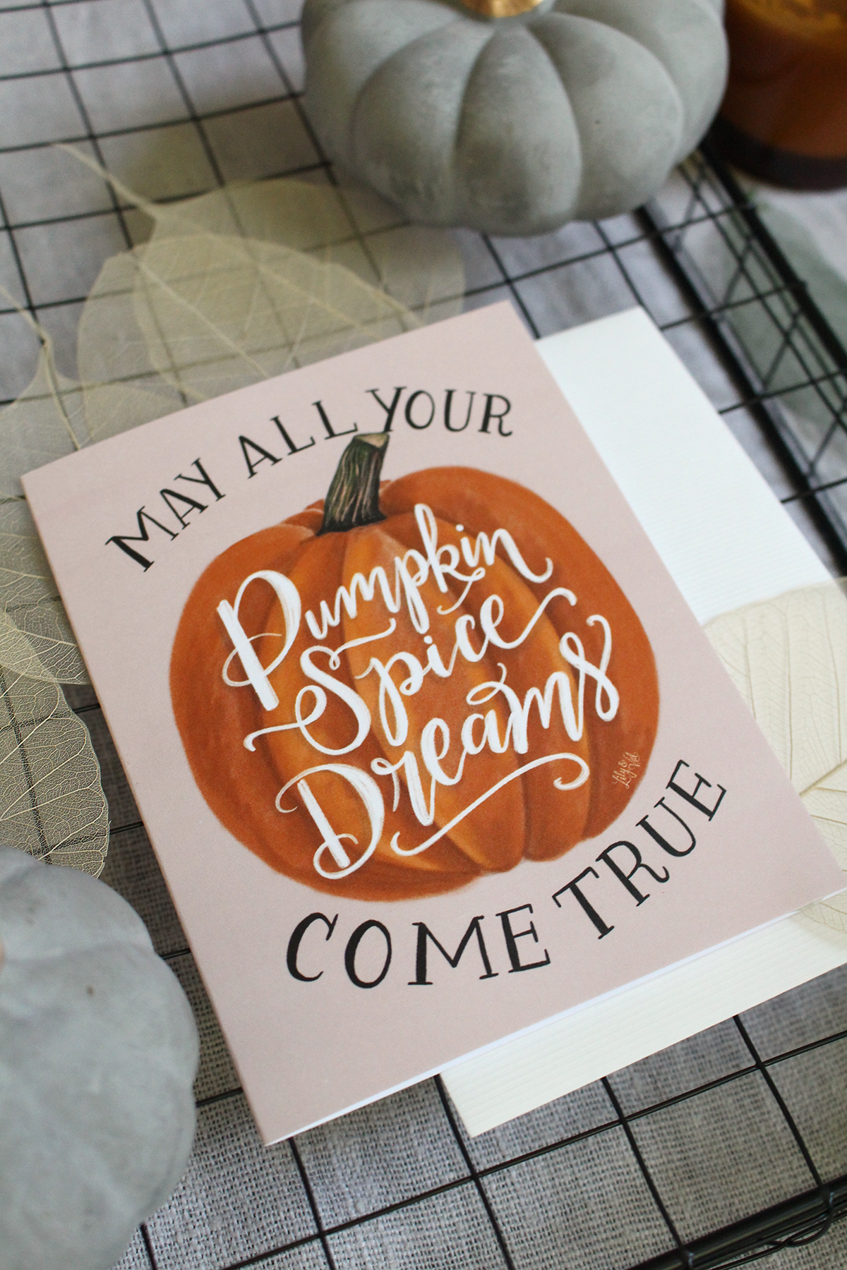 A card for the pumpkin spice lover!