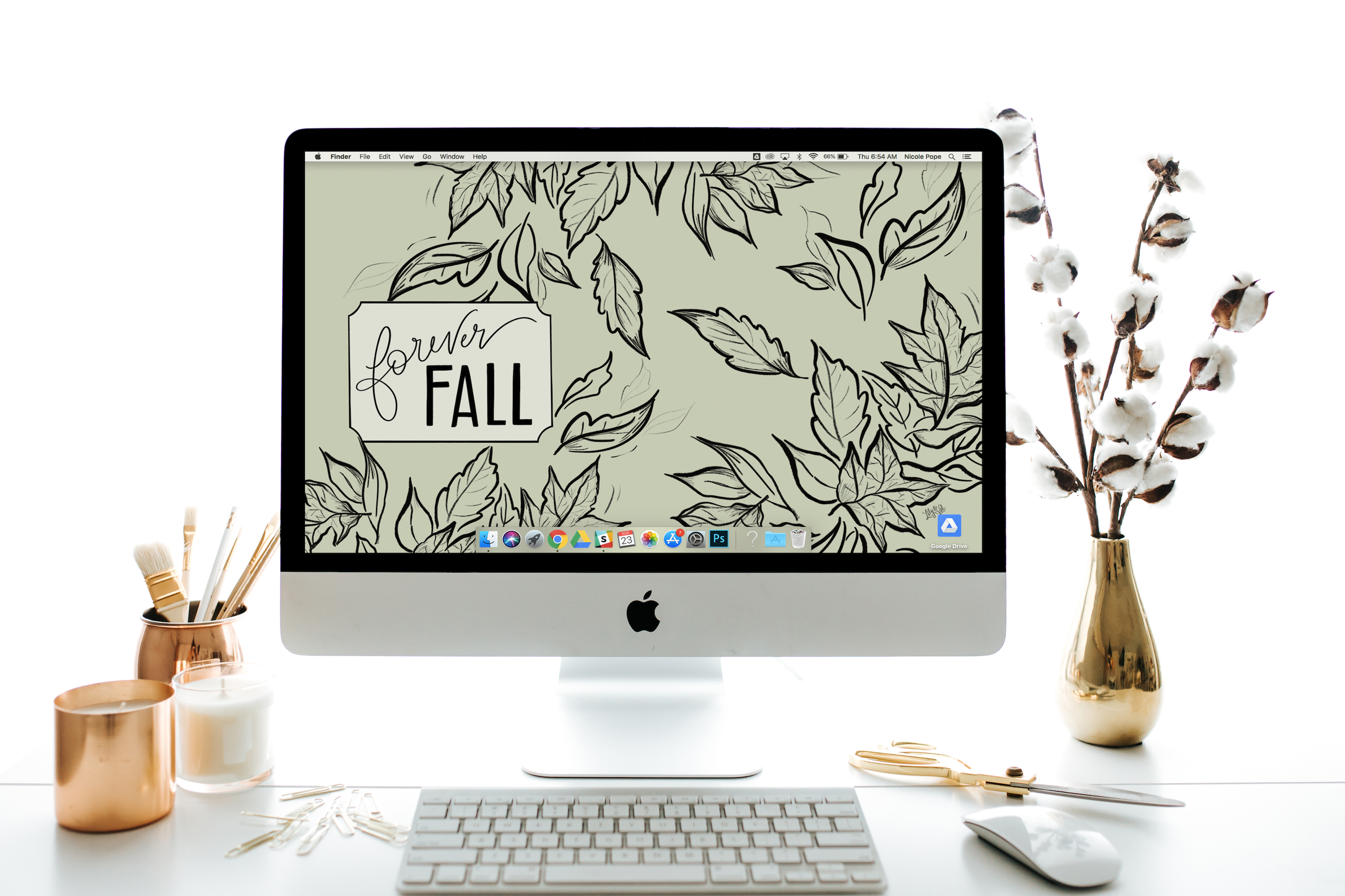 "September's ""Forever Fall"" FREE Desktop Download by Lily & Val"