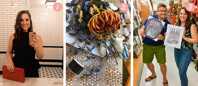 Lily & Val Presents: Pretty Ordinary Friday #97 with shameless bathroom selfies, faux fall florals and L&V in TJMaxx