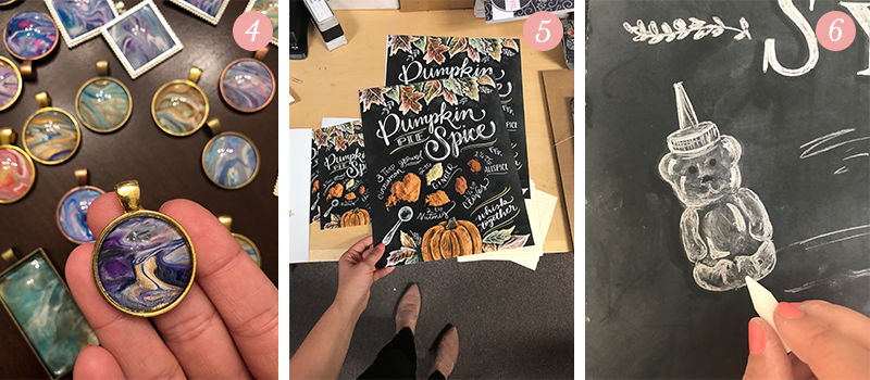 Lily & Val Presents: Pretty Ordinary Friday #97 with poured paint pendants, new Pumpkin Pie Spice recipe prints and sneak peek at a new L&V design