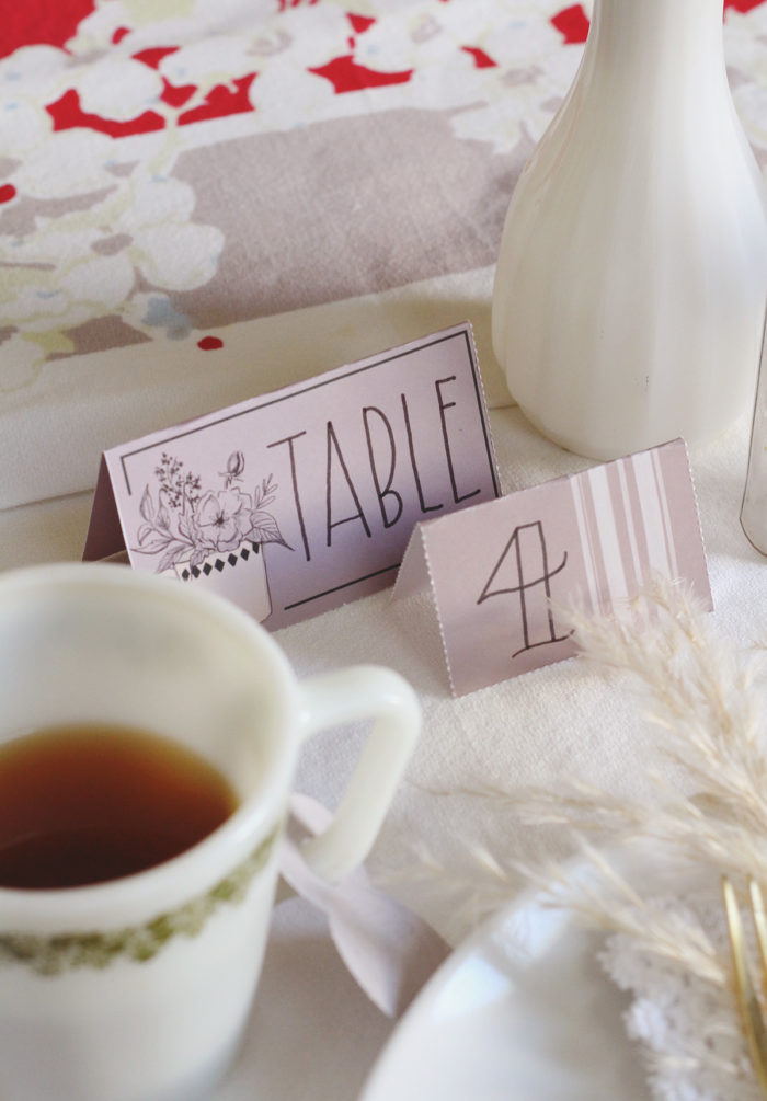 DIY Bridal Shower Table Inspiration Using Life Of The Party Papercrafting