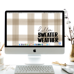 "October's ""Hello Sweater Weather"" FREE Desktop Download"
