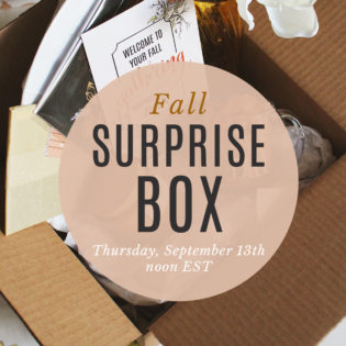 Fall Gathering Surprise Box Launching on Thursday, September 13th