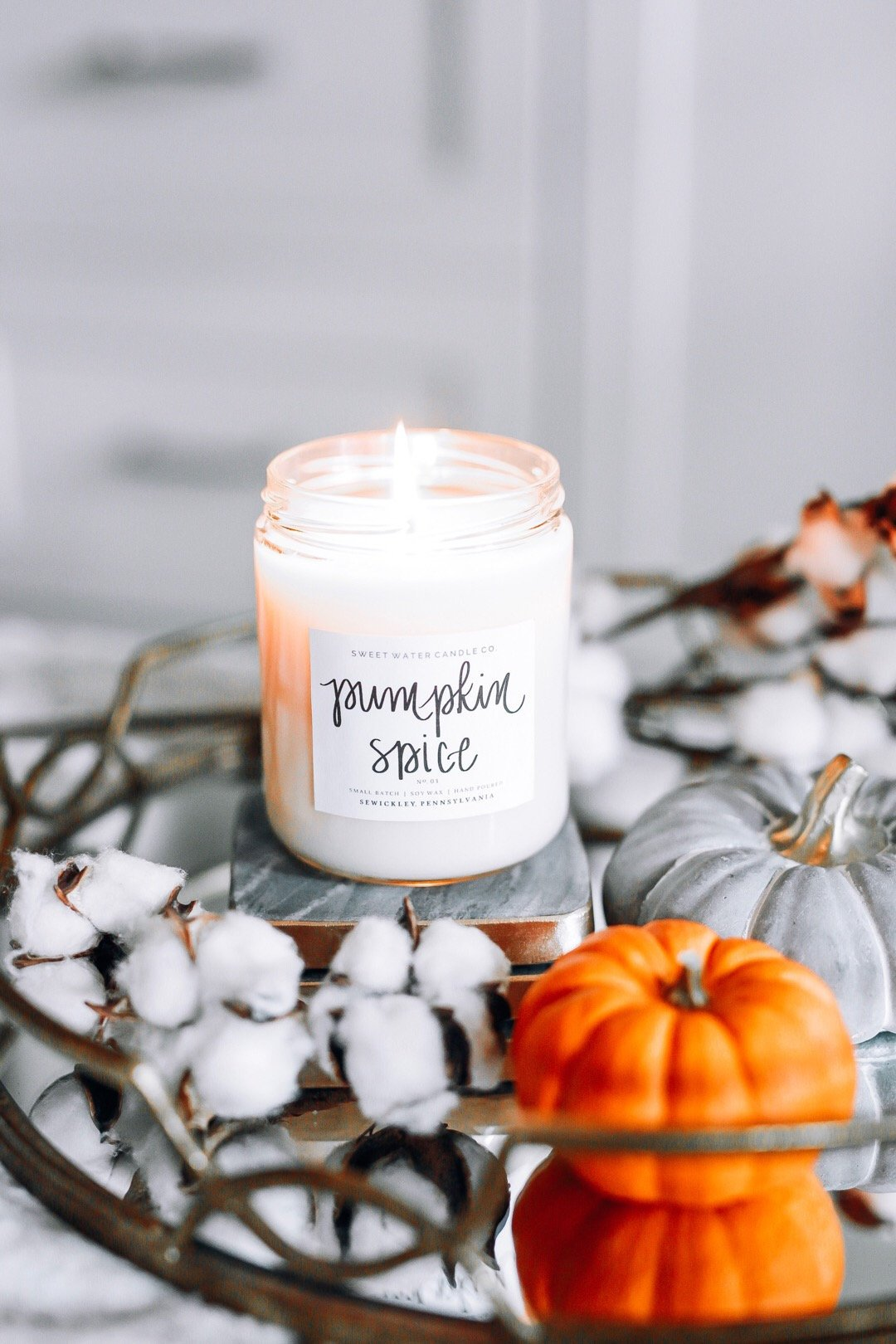 Sweet water decor pumpkin spice candle